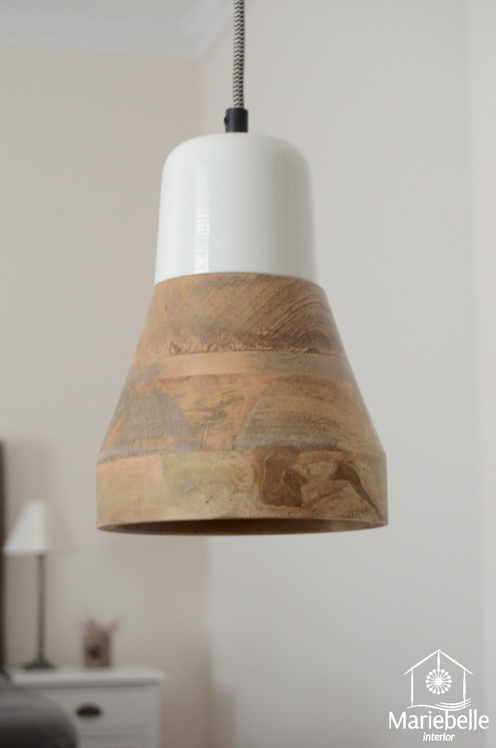 h ngelampe holz wei k chen leuchte landhaus pendel decken. Black Bedroom Furniture Sets. Home Design Ideas