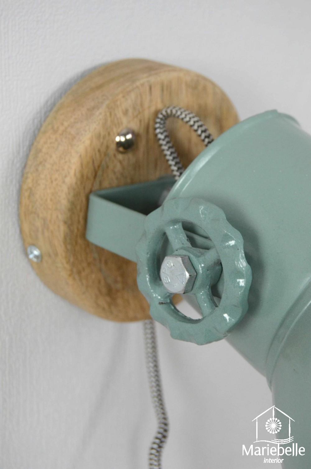 Wand industrielampe wandlampe leuchte lampe vintage shabby retro factory holz ebay - Wandlampe vintage retro ...
