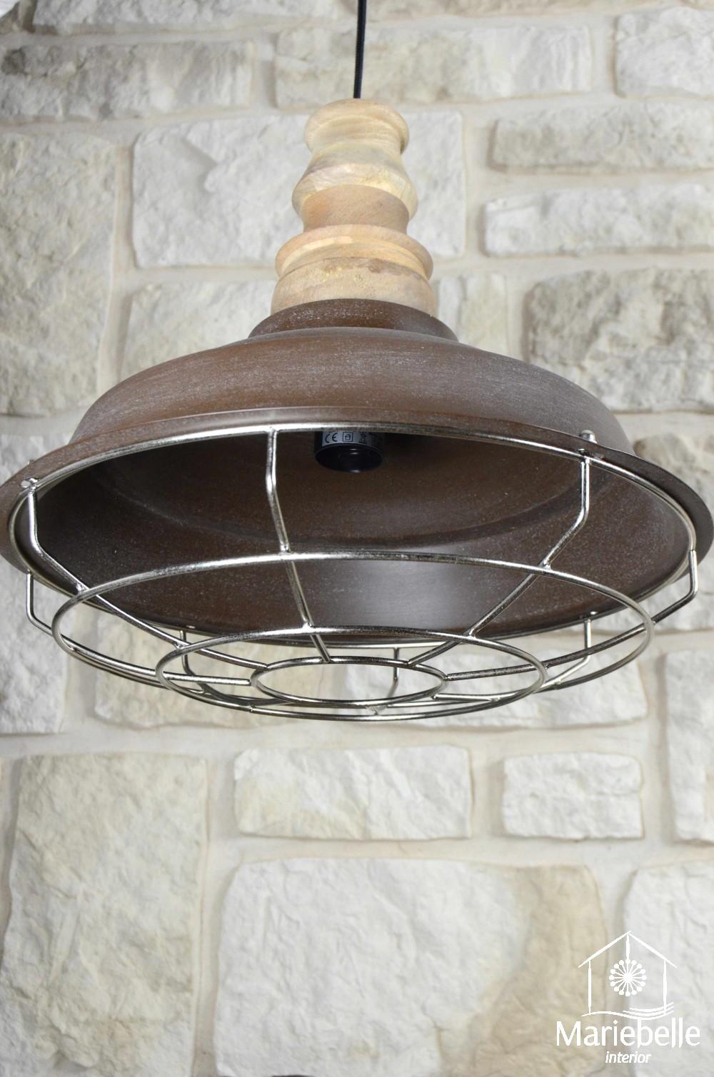 industrielampe retro vintage h nge leuchte decken lampe loft shabby bauhaus holz. Black Bedroom Furniture Sets. Home Design Ideas