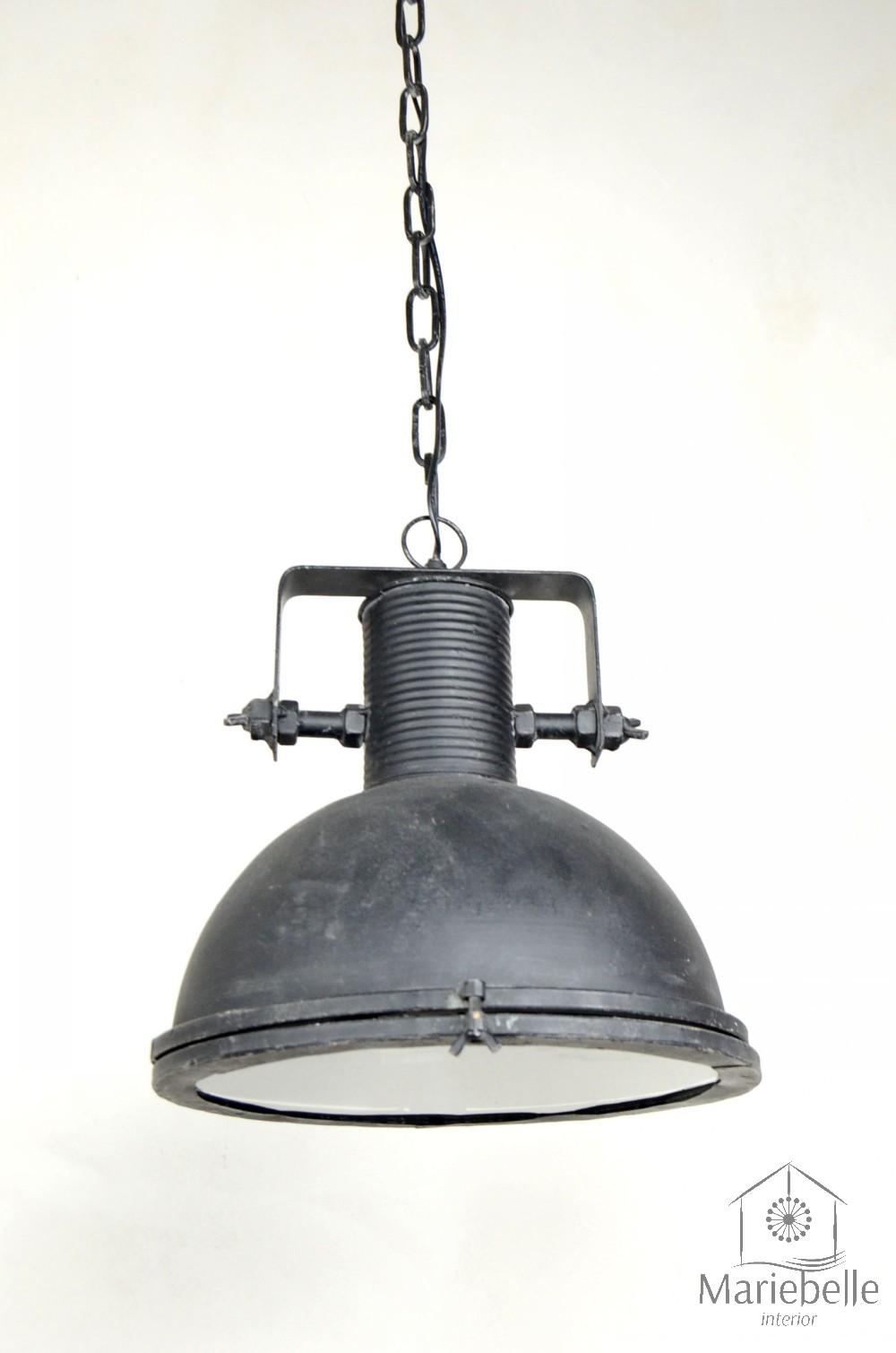 Industrielampe Vintage Shabby Bauhaus Hänge Lampe Loft Retro Decken Leuchte Grau